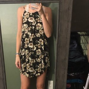 Floral brown dress
